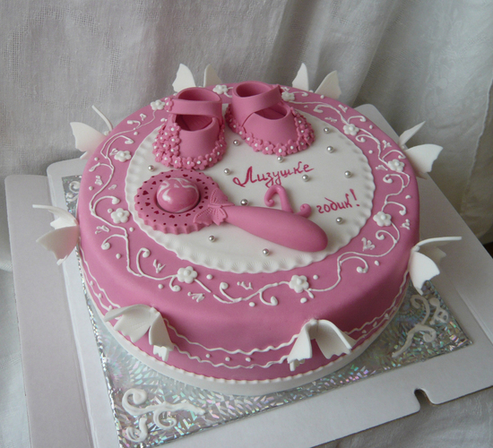 Торт для девочки на три годика мк, фото
