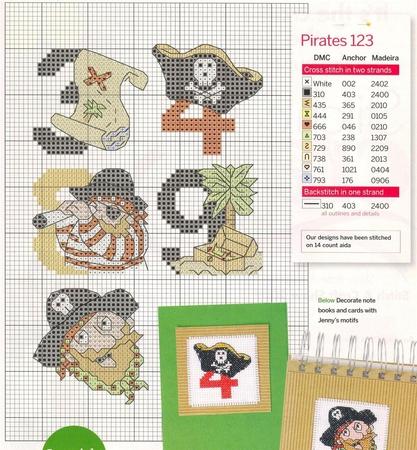 Схема для вышивки пираты 282