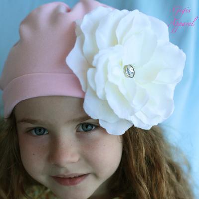 Цветок на шапку для девочки своими руками