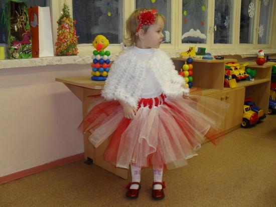 Новогодня игрушка юбка-пачка и