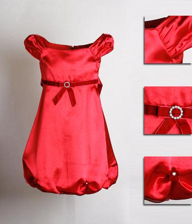 Атласное платье нарядное
