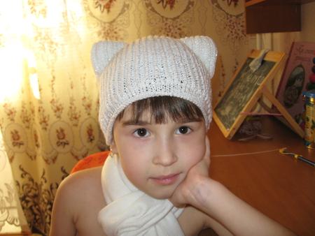 Вот такая шапочка у меня