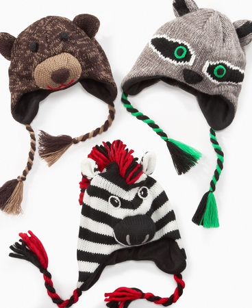 Вязание детские шапки зверюшки