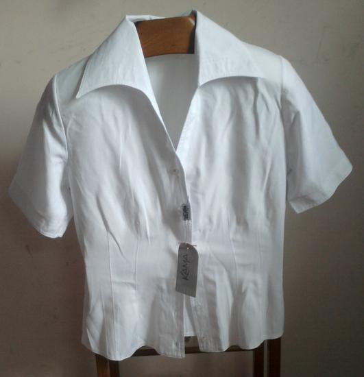 Офисные белые блузки