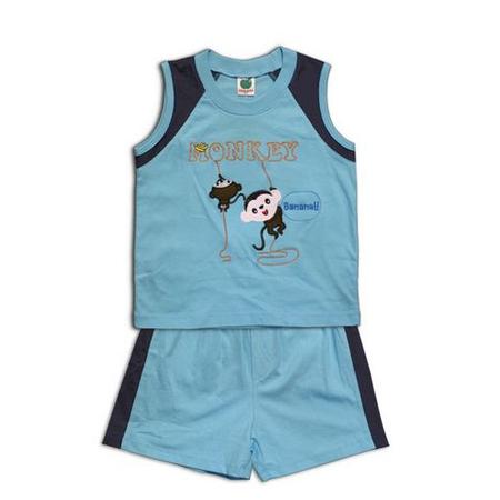 """Детская одежда :: Костюм  """"Monkey """" с майкой для мальчика."""