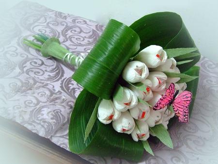 Букеты из конфет тюльпаны своими руками пошаговое фото