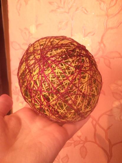 Как сделать шары из ниток инструкция