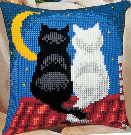 схема вышивки крестом коты